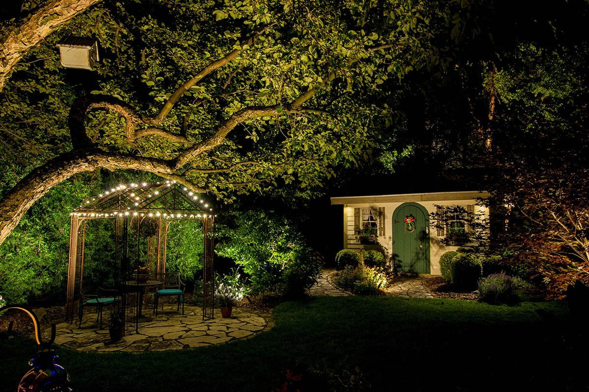 franklin landscape lighting night owl outdoor backyard lighting ftimg