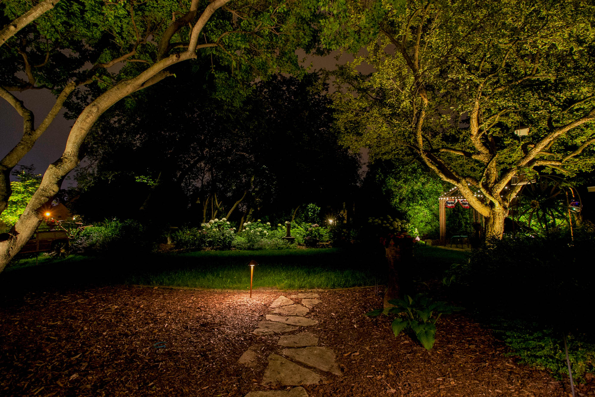 franklin landscape lighting night owl path landscape design