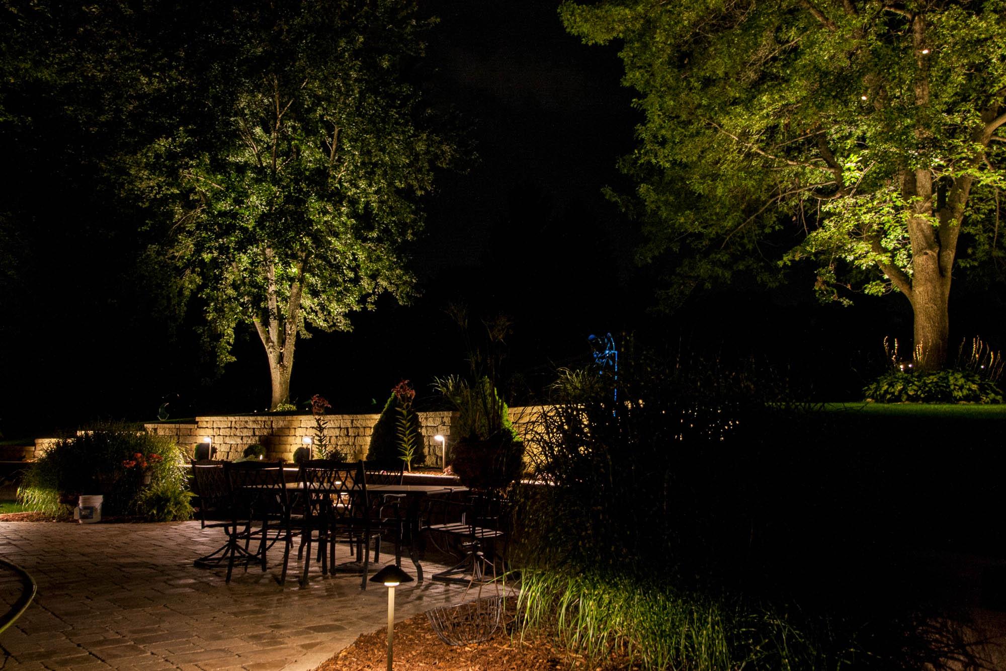 pewaukee landscape outdoor lighting night owl patio lights