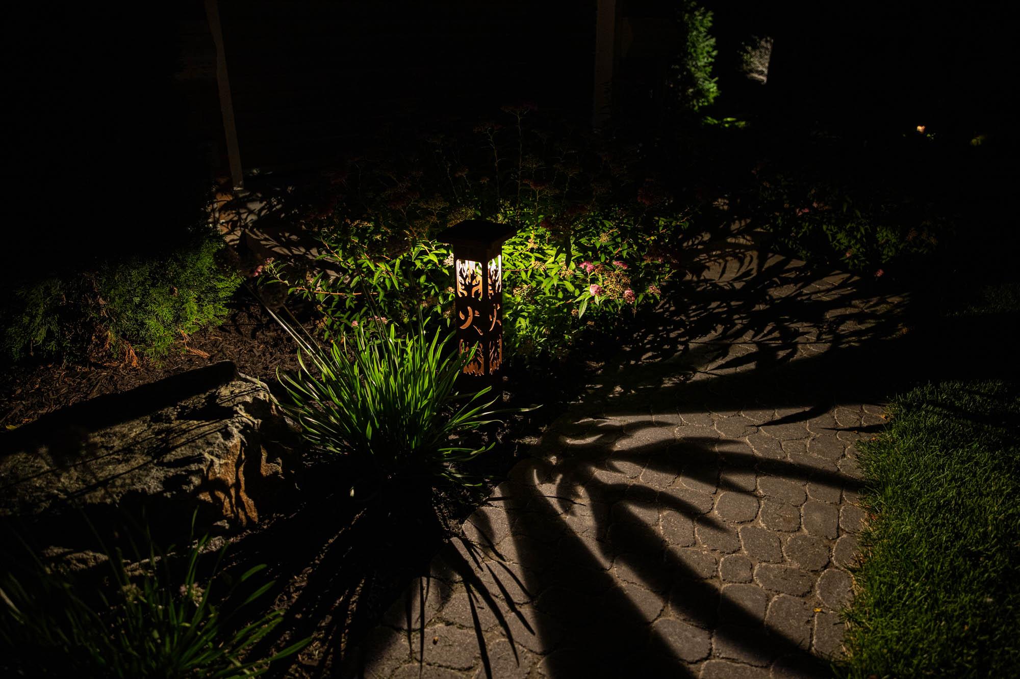brookfield landscape lighting night owl outdoor lights plants decorate lanterns
