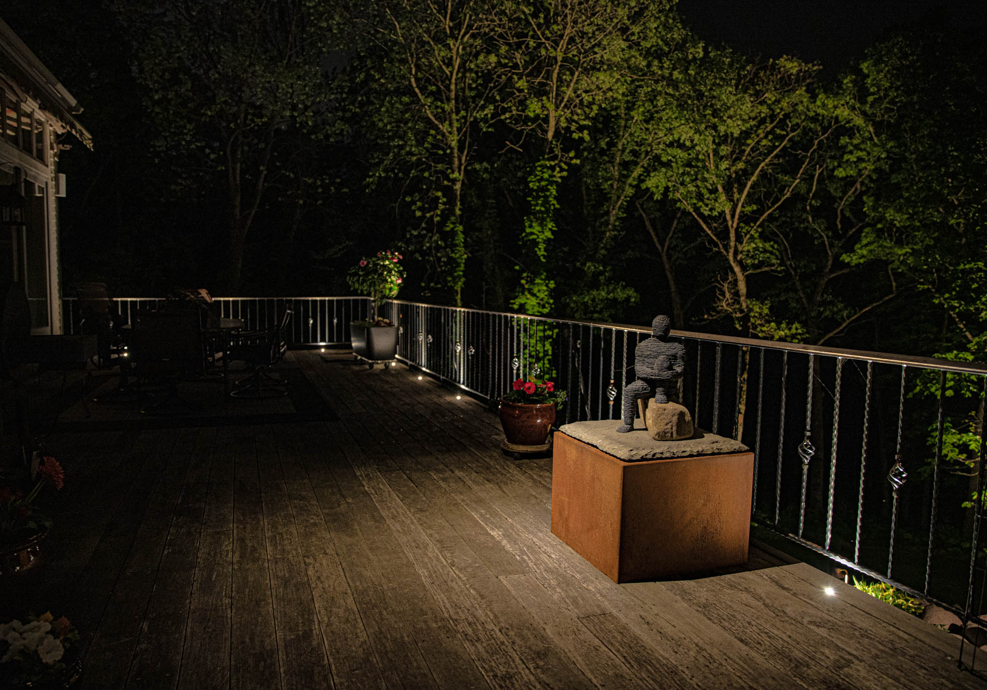 delafield landscape outdoor lighting night owl deck lights railing