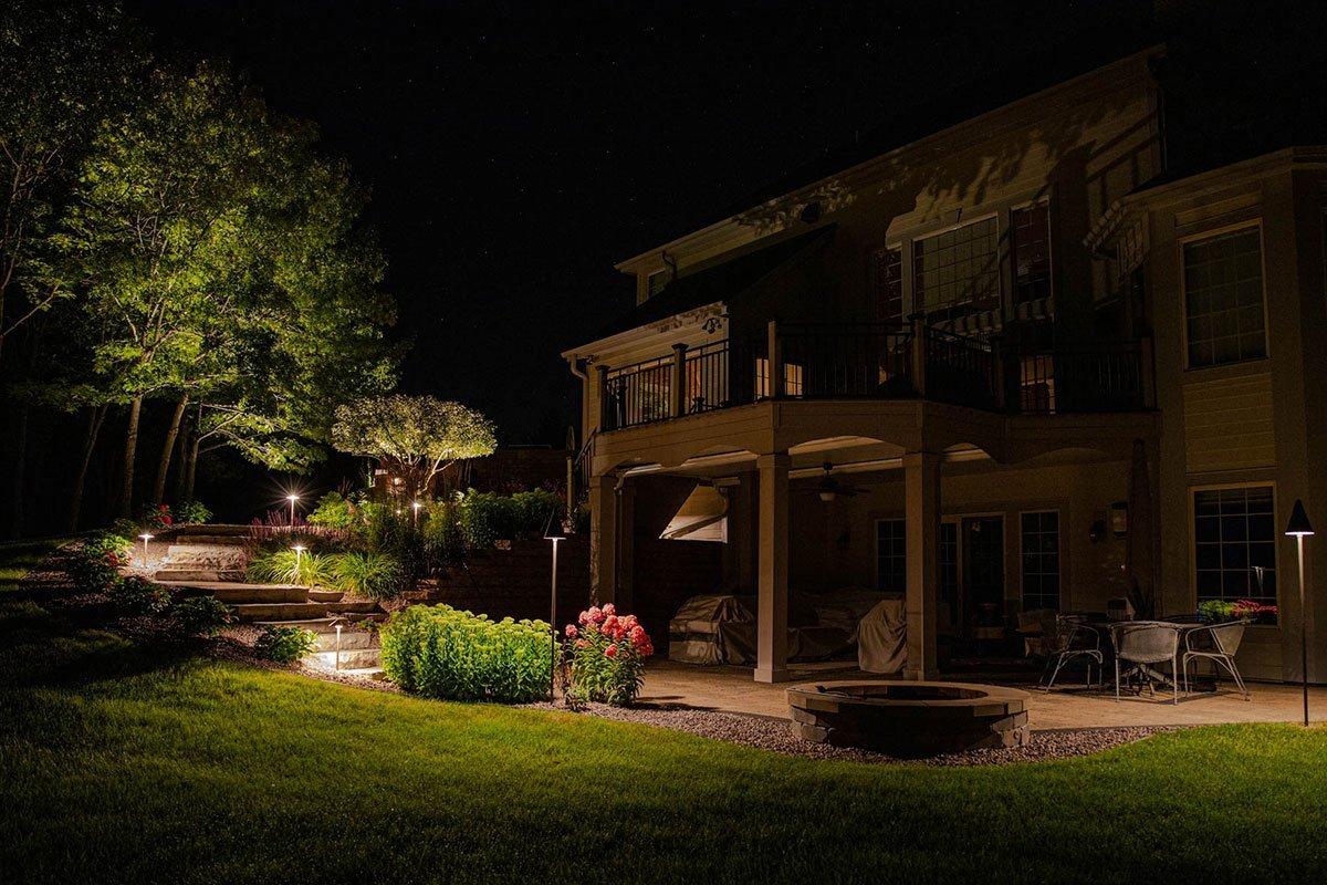 mukwonago landscape outdoor lighting night owl desk fire pit tree uplighting path lights ftimg