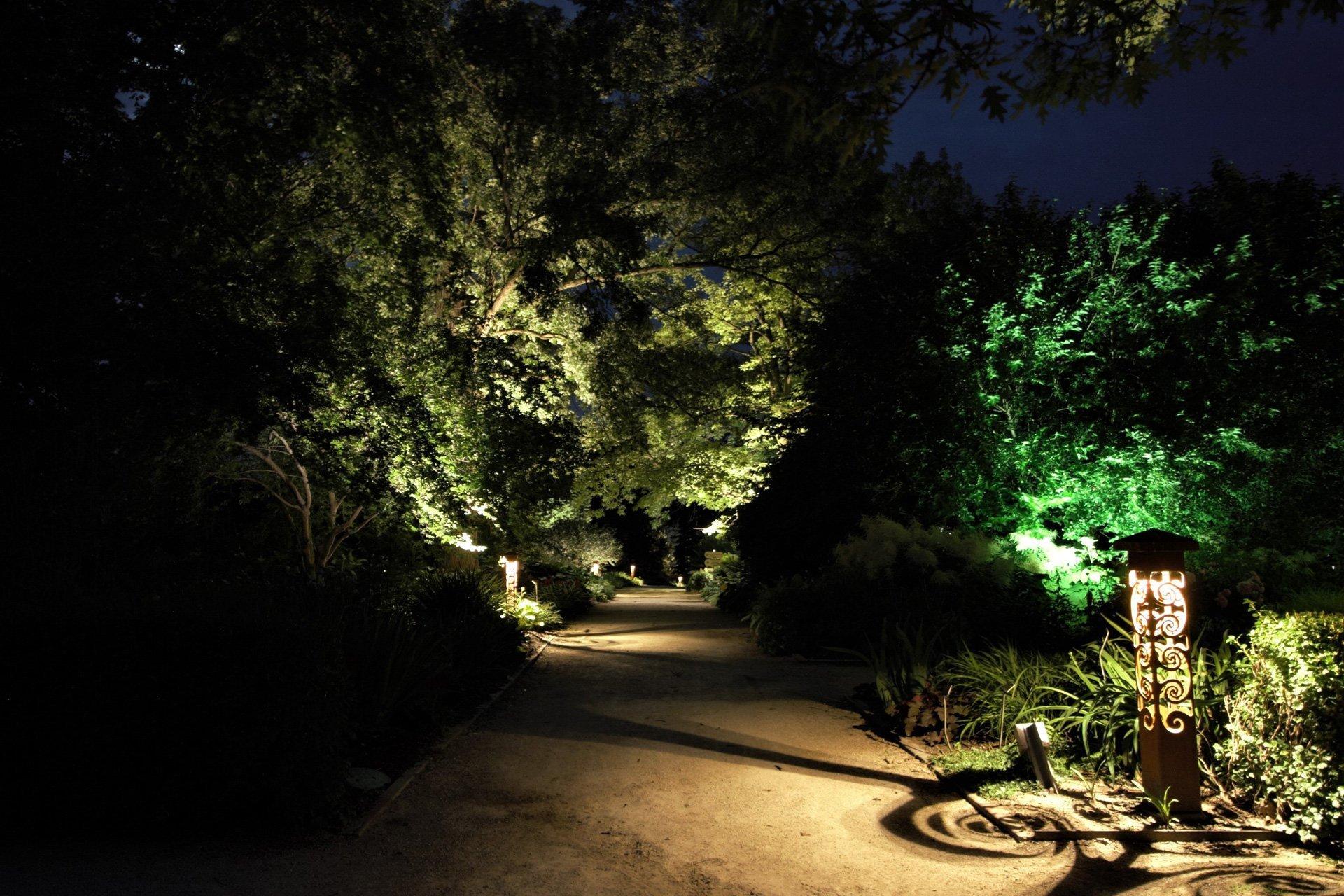 night owl landscape lighting boerner botanical gardens custom decorative fixtures pathlight security