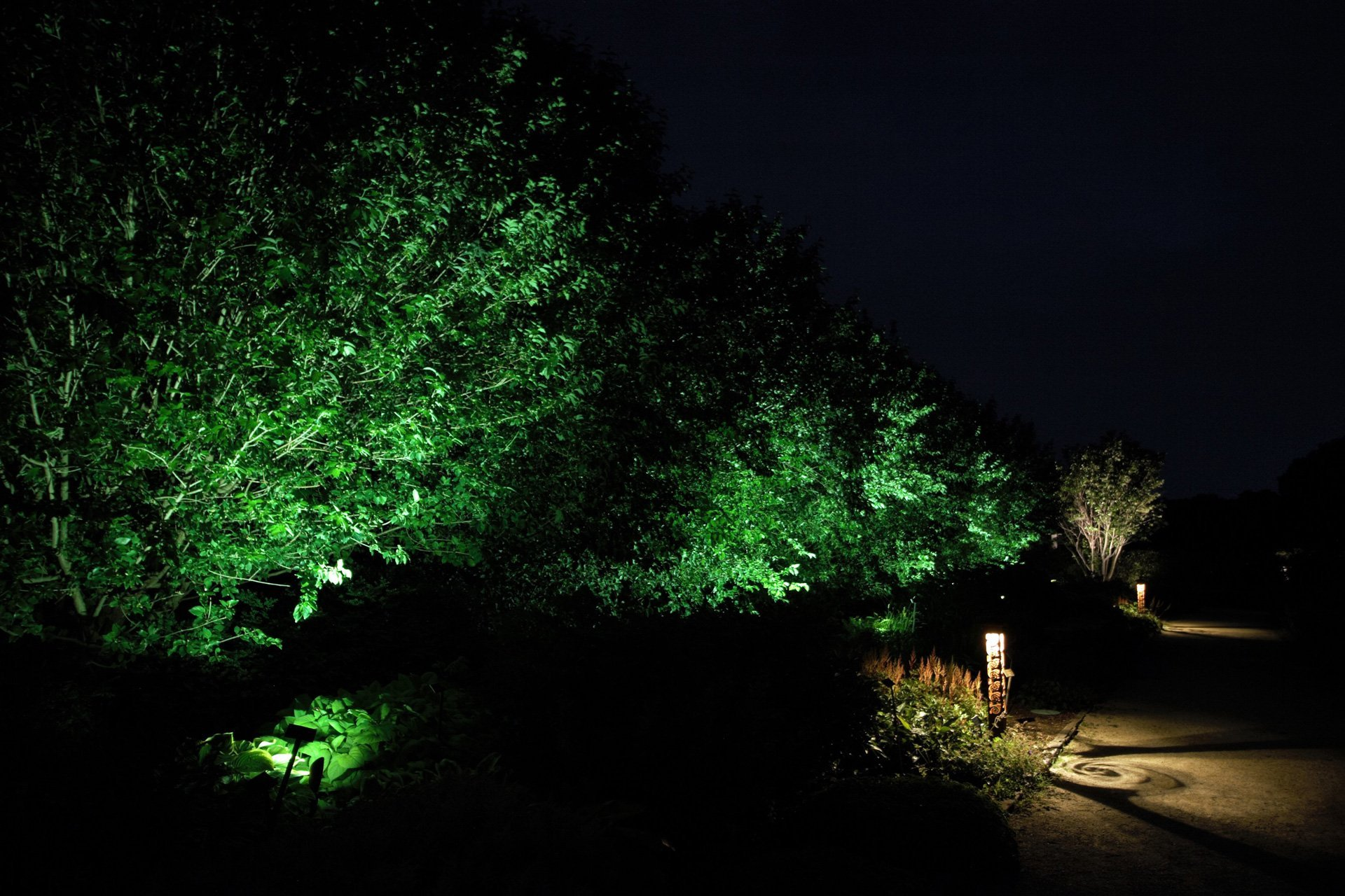 night owl landscape lighting boerner botanical gardens foliage nature path lights custom decorative fixtures security