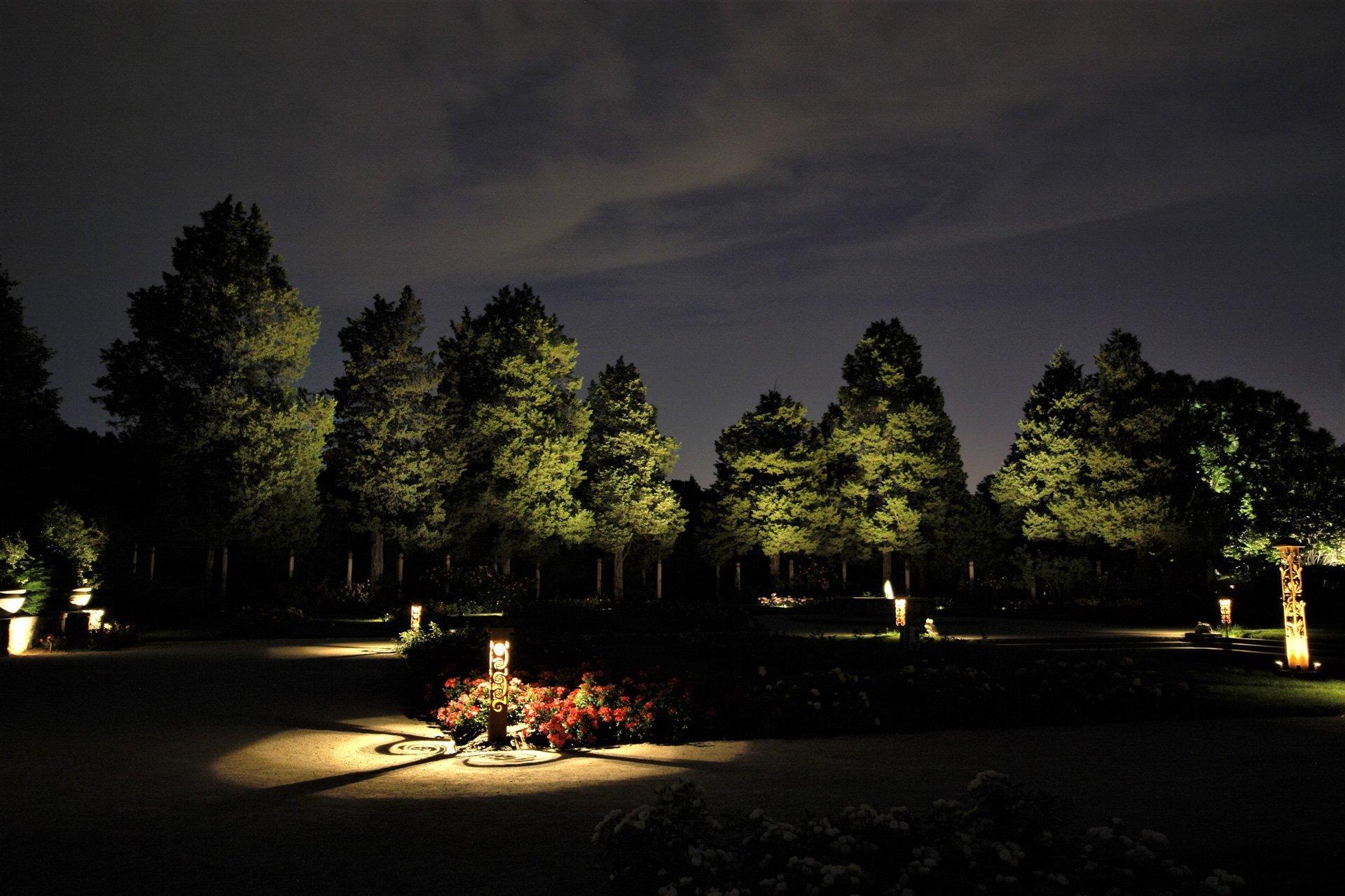 night owl landscape lighting boerner botanical gardens nature uplighting custom decorative fixtures