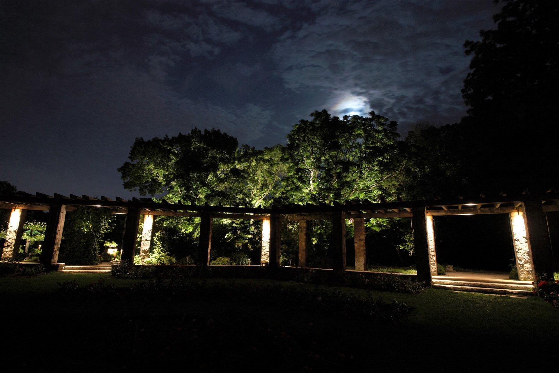 night owl landscape lighting boerner botanical gardens pergola security down lights