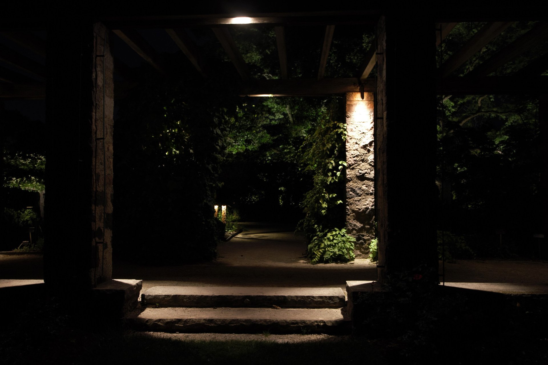 night owl landscape lighting boerner botanical gardens stone step security lights downlighting