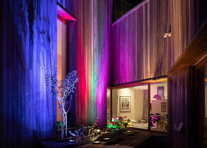 colorful led home lights controlled by an app for celebrations and holidays