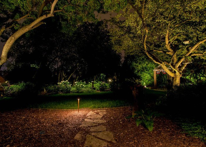 night owl landscape lighting maintenance services for led light systems in wisconsin